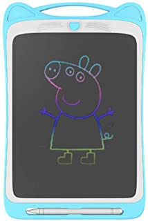 Pshare Kids Cute Cat Electronic Writing Board 12 Inches Eye Protection Waterproof Color LCD Drawing Board Portable Graffiti Tablet Painting Board Doodle Pad Toy Gifts for Kids Boys Girls (Blue)