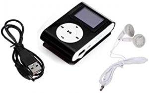 Mini Black USB Clip MP3 Player Bundle Headset LCD Screen Support 32GB Micro SD TF Card