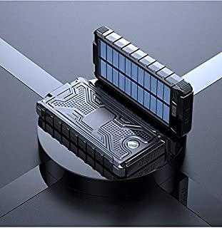 10000mah Solar panel Power Bank USB External LED flashlight Battery Portable Powerbank External battery charger