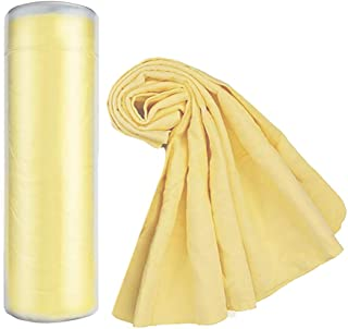 "Premium Chamois Drying Cloth Car Drying Towel 26"" x 15"" Super Absorbent Fast Drying Chamois Environmental and Durable Car Wash Cloth Accessory"
