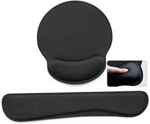 Widen Memory Foam Set Nonslip Mouse Pad with Wrist Support & Keyboard Wrist Rest Support for Office