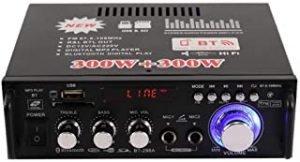 12V/ 220V Mini BT LCD Display HIFI Audio Stereo Power Amplifier