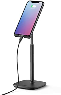 UGREEN Phone Stand Desk Holder Height Adjustable Vertical 4.7~7.9 inch Mobile Mount Compatible with iPhone 12 mini/12/12 Pro/12 Pro Max 11 Pro XR XS 8 7 Samsung S20 A10