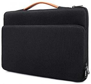 Laptop Sleeve for 13-13.3 MacBook Pro Retina Laptop Notebook Briefcase Bag Waterproof and Shockproof Messenger Bag(Black)