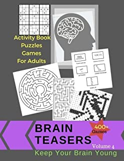 Activity Book Puzzles Games For Adults Brain Teasers 400 +Games: Jumbo Large Print Keep Your Brain Young With Easy Puzzles