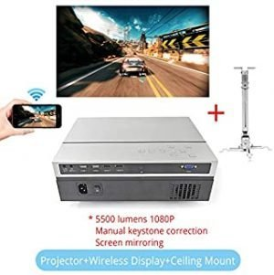 projector full hd - Touyinger T26L Native 1080p LED full HD Projector Video beamer 5500 Lumen FHD Home cinema HDMI (Android 9.0 wifi AC3 optional) (T26L WD CM)