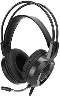 Black Noise‑Cancelling PC Accessory Gaming Headset