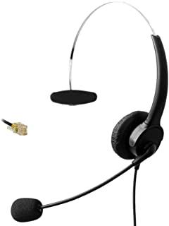 Comdio Call Center Telephone Headset Mono with Noise Canceling Mic for Avaya 1608 Snom 870 Grandstream GXP1405 Yealink T42G T46G Panasonic KXT Cisco 7905 Zultys 36G Huawei C62 IP Phones(CH601G2)
