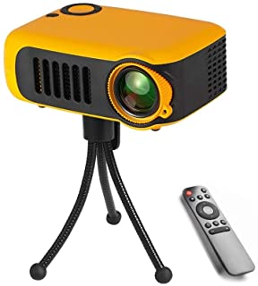 CHENCHUAN Smart Theater Projector A2000 Mini Portable Projector 800 Lumen Supports 1080P LCD 50000 Hours Lamp Life Home Theater Video Projector for Power Bank Video Projector ( Color : Color1 )