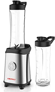EMERALD 400 Watts Smoothie Blender with 2x610ml BPA Free Portable Bottles. 1 Year Dubai Warranty.