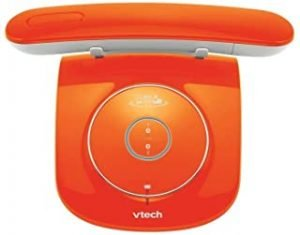 SXRDZ phone Family Simple Cordless Landline Multi-color Optional Additional Mobile Phone Bluetooth Connection Landline Phone (Color : Red) (Color : Orange)