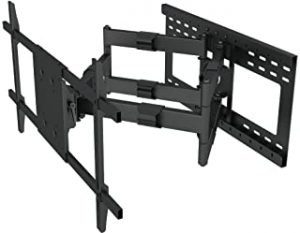 "Heavy Duty Articulating Arm Long Extension TV Wall Mount Bracket with 24"" Stud Support (32"" Extension arm)"
