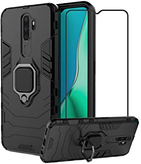 2ndSpring Case for OPPO A9 2020/A11X/A5 2020 with Tempered Glass Screen Protector