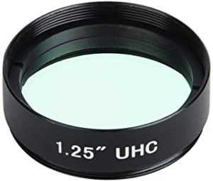 1.25 Inch 31.7mm Filter UHC Light Pollution Inhibition Lens for Astronomical Telescope Monocular Eyepiece Lens Full-aluminum Standard Thread for Astro Optics Eyepiece