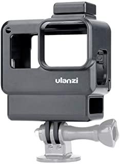 KKmoon Ulanzi V2 Vlog Case Action Camera Housing Shell Vlogging Cage Frame with Cold Shoe Mount for GoPro Hero 7 6 5 Black for External Microphone