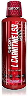 iSatori L-Carnitine LS3 Concentrated Liquid Fat Burner And Metabolism Activator - Fat Loss For Health And Fitness - Keto Friendly Weight Loss - Stimulant Free - Pink Lemonade 1500mg (32 Servings)