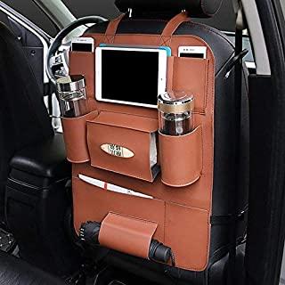 AutoEC Water-Repellent Pu Leather Car Seat Back Organizer and iPad mini Holder