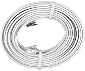 Bistras Bistras 100 Feet White Telephone Extension Cord Cable Line Wire