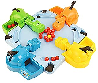 Hungry Hippo Swallowing Marbles Interactive Educational Toys Early Education Double Competitive Game Kids' Marble Game - Colorful