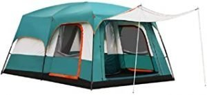 Charhoden SQ-103-L Model: TXZ-0030 Two-bedroom One hall Outdooor Tent - Instant Cabin Tent Green - Green