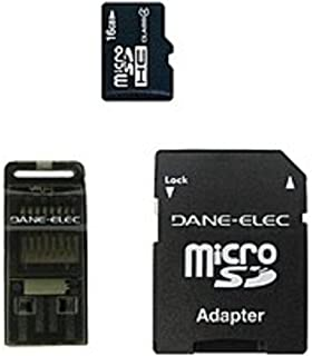 Dane 16GB MicroSD Memory Card With Adapter - Black (DA-3IN1C416GT3-C) Dane-Elec