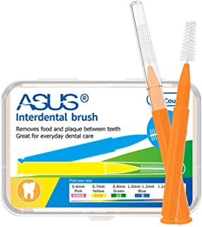 ametoys 60 Pcs Interdental Brush Floss Interdental Cleaners Oral Care Health Tooth Dental Teeth Brush Oral Hygiene Tools