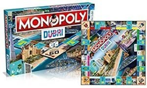 Hasbro Monopoly Dubai Official Edition 1 DGR | Iconic Mr Monopoly Creation for UAE | Blue