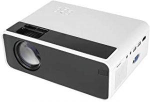 W13 LED Projector Support 1080P with Remote Control Multe Ports for Office Home Theater White EU Plug (Basic Version)