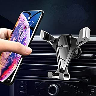 HULPPRE Cell Phone Holder for Car With Stronger Vent Clip Universal Mobile Phone Stand Holder Easy Installation Hands Free Phone Mount Car Holder Compatible With All Kinds of Cell Phone