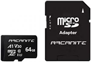 ARCANITE 64GB microSDXC Memory Card with Adapter - A1