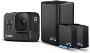 GoPro HERO8 Bundle Kit ( Dual Charger + 2 Hero8 Battery + 1 Hero7 Battery ) Action Camera Bundle