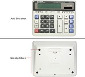 Hippopy Computer Large Computer Electronic Calculator Counter Solar & Battery Power 12 Digit Display Multi-functional Big Button for Business Office School Calculating