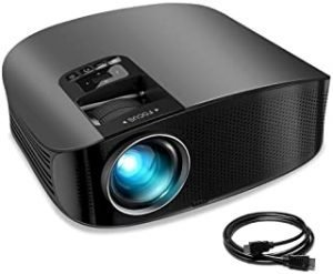 Home Cinema Video Projector WiFi Projector- 30000 Hours Portable LED HD 1080P Video Projector-Home Theater Projector Office Projector Support HDMI USB SD VGA AV