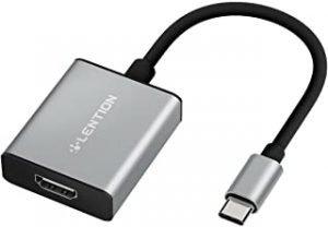 LENTION USB C to 4K HDMI Digital AV Adapter Compatible 2020-2016 MacBook Pro 13/15/16