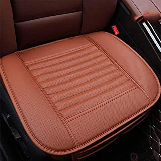 AMERTEER Breathable Car Interior Seat Cover Cushion Pad Mat for Auto Supplies Office Chair with PU Leather Four Seasons General  (Brown)