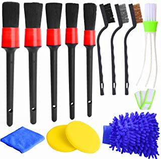Hicdaw 13Pcs Detailing Brush Set Car Detailing Kit for Auto Detailing Cleaning Car Motorcycle Interior