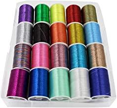 Metallic Embroidery Thread DIY Portable Household Manual Sewing Thread Set (Multicolor)