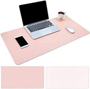 Gaming Mouse Pad Thick Non-Slip Rubber Base Comfortable Mouse Pad Smooth Computer Keyboard Mouse Pad (Size: 60 * 30 * 0.2cm) Tender Pink