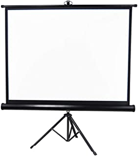 Arealer 72 inches Projector Screen with Tripod Stand 4:3 Portable Projection Screen 4K 3D Projector Movies Screen for Home Office Indoor Outdoor Use