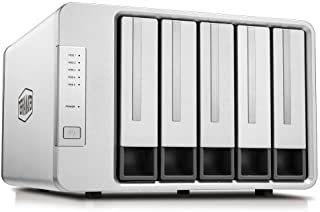 TerraMaster D5-300C USB3.1 (Gen1) Type C 5-Bay RAID Enclosure Support RAID 0/1/Single Exclusive 2+3 RAID Mode Hard Drive RAID Storage (Diskless)