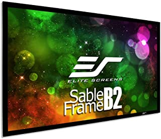 Elite Screens SB135WH2 135-Inch 3D 4K/8K UHD Fixed Frame Home Theatre Projector Screen Kit - CineWhite