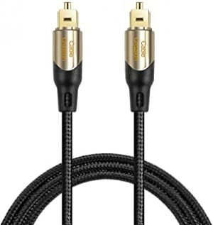 CableCreation 15 Feet Toslink Male to Toslink Male Digital Optical SPDIF Audio Cable