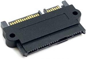 CY SFF-8482 SAS 22 Pin to 7 Pin + 15 Pin SATA Hard Disk Drive Raid Adapter with 15 Pin Power Port