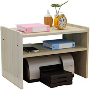 Printer Desktop Stands Monitor Stand with Storage Desktop Copier Small Printer Storage Rack Multi for Home And Office