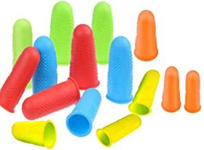 Excefore 15 Pieces Silicone Hot Glue Gun Finger Caps