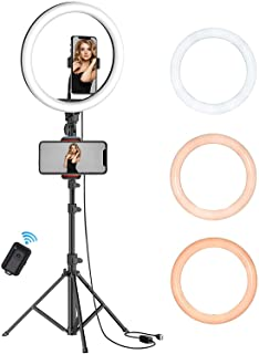 """QITELE 10"""" Selfie Ring Light with Tripod Stand"""