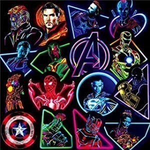 65 Pieces Vinyl Graffiti Non-Repeated waterproof KG20 Stickers of Marvel