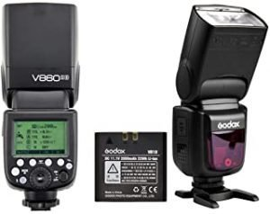 Godox V860II-S TTL HSS 1/8000s Speedlite Flash with built in 2.4GHz transceiver Li-ion Battery plus charger for Sony Cameras