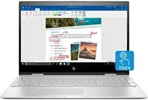 HP ENVY X360 15t Convertible 2-in-1 Premium Home and Business Laptop (Intel 8th Gen i7-8550U Quad-Core
