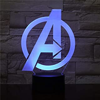 Avengers LOGO 3D Night light